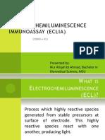 ELECTROCHEMILUMINESCENCE IMMUNOASSAY (ECLIA)