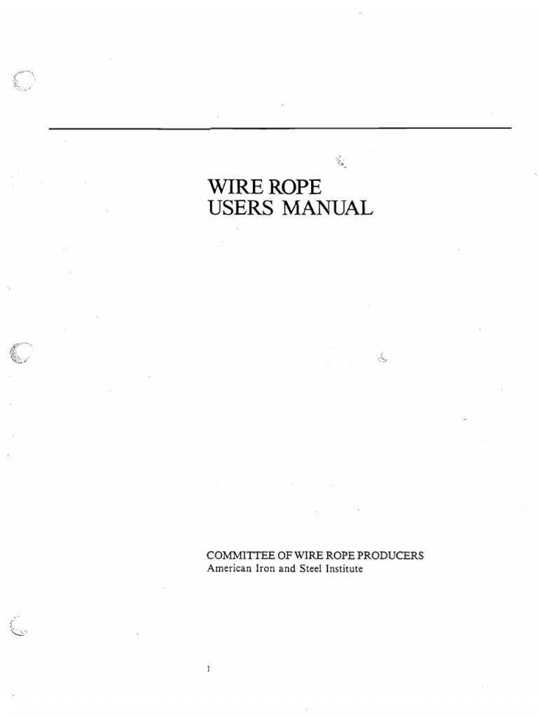 Wire Rope User\'s Manual (AISI) | Rope | Wire