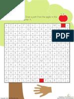 Letter Maze A Kindergarten