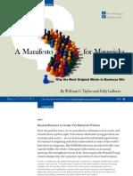 Mavericks  Manifesto