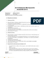 Manual de Instalacion Monopuesto AutoCAD 2013