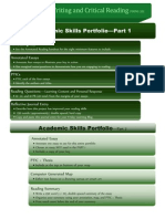 academic skills portfolio