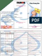 Folder de Vacinação - Saúde da Criança I (Estágio)