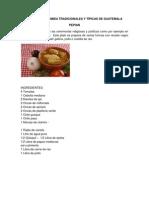 RECETAS DE COMIDAS TRADICIONALES Y TÍPICAS DE GUATEMALA
