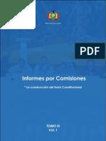 Tomo III. Informes por Comisiones (Volumen I)