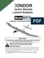 Condor Electric Remote COntrol Airplane