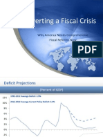 Averting a Fiscal Crisis - Why America Needs Comprehensive Fiscal Reform Now 0 0 0 0 0 0
