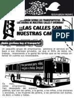 POR UN TRANSPORTE BARATO Y DE CALIDAD EN COCHABAMBA