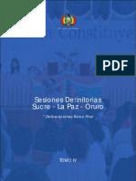 Tomo IV. Sesiones Definitorias