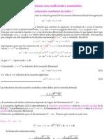 ED homogéneas con coeficientes constantes de orden 2
