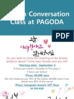 Korean Conversation Class at PAGODA1