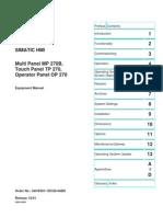 Simatic Manual Op 270 6av6 591-1dc0-0ab0 Ing
