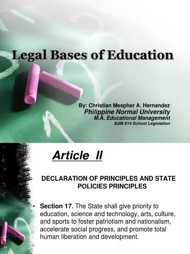 legal foundation of education meaning