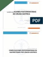 (Complicaciones Postoperatorias en Cirugía Gastrica)