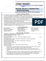 Colan Sewell Partner Sales Marketing Business Development Resume