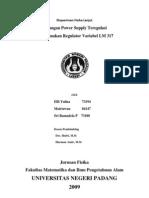 Tegangan Power Supply Teregulasi Menggunakan Regulator Variabel LM 317