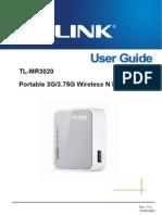 TL-MR3020 UserGuide