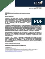 Carta a la SENESCYT - CEA 002 - GRUPAL(Extracto de carta al Ministerio de Educación del Ecuador- CEA 001)