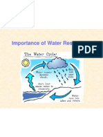 Importance of Water Resources
