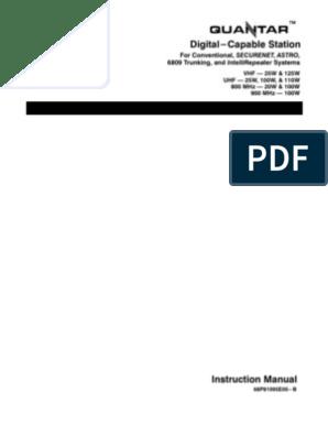 Quantar Instr Manual | Digital Signal Processor | Copyright