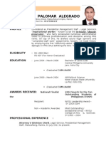 Atty. JULIUS PALOMAR ALEGRADO's RESUME