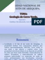 Geologia de Cerro Verde.
