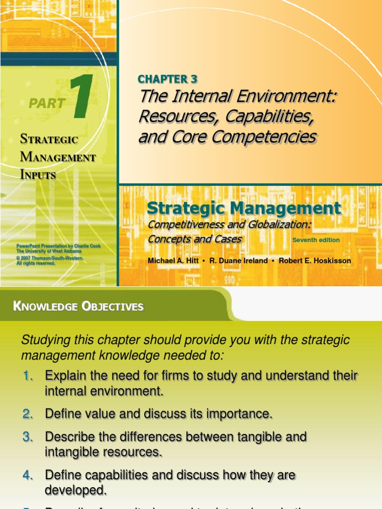 strategic management and core competences