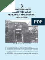 3. Perkembangan Islam Terhadap Kehidupan Masyarakat Indonesia