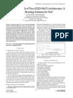 Diametrical Mesh of Tree (D2D-MoT) Architecture