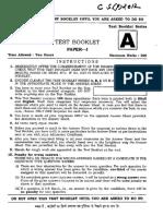 Ias Exam General Studies Paper I-2012