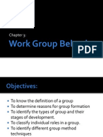 Chapter 3 Work Group Behavior