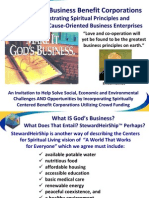 Establishing Spiritually Oriented Benefit Corporations