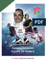 Programme Jeux Paralympiques