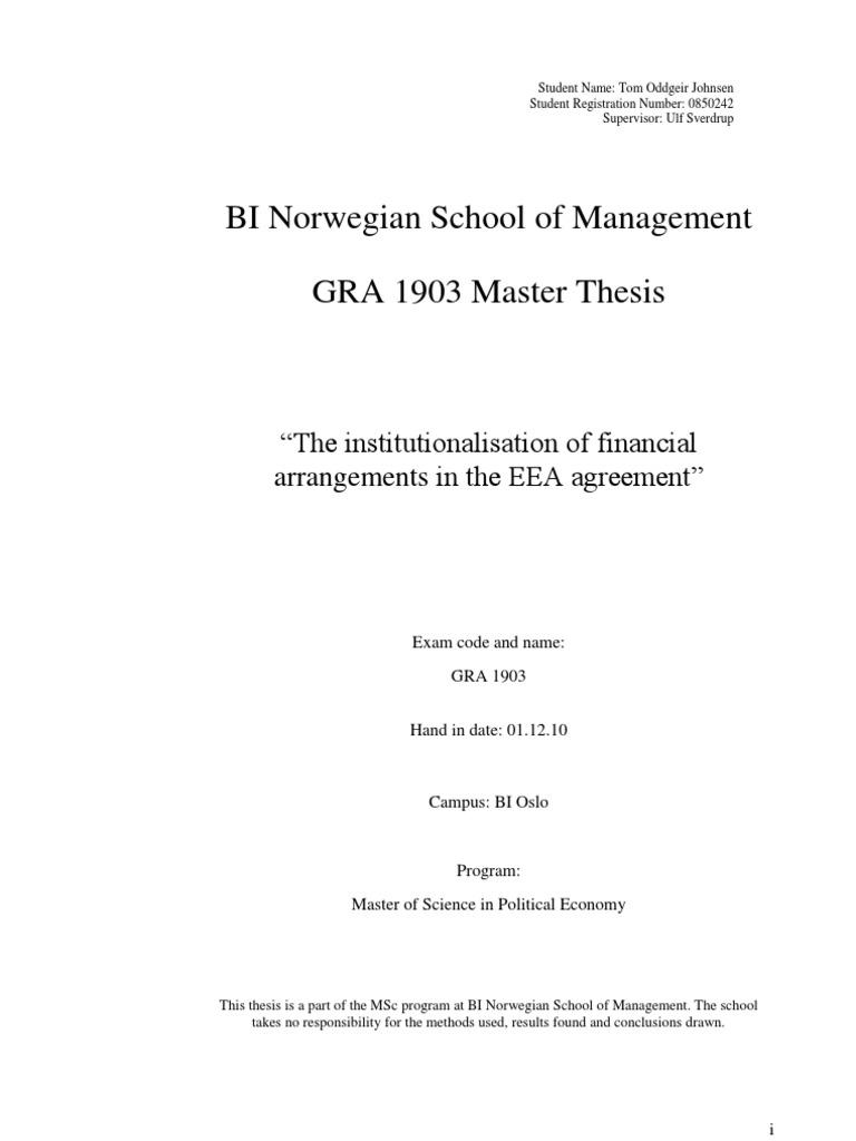 Master thesis quantitative research