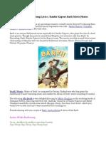 Ala Barfi! Title Song Lyrics | Ranbir Kapoor Barfi Movie Photos