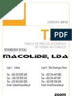 Zoom Tabela Precos 2012