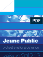 Brochure Jeune Public de l'Orchestre National de France 2012-2013