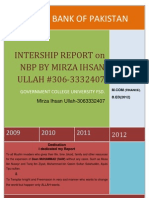 Intership Report on nbp