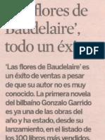 Las flores de Baudelaire, de Gonzalo Garrido, en Expansión.