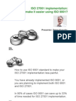Iso 27001 Implementation How to Make It Easier Using Iso 9001