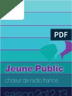 Brochure Jeune Public du Choeur de Radio France 2012-2013