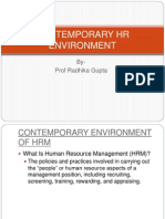 Contemporary HR Environment