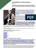 The Nazi Escapees via Vatican Ratlines