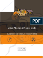 Urban Aboriginal Peoples Study - Summary of Final Report