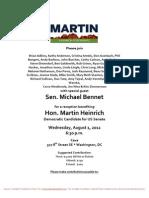 Reception Benefiting Hon. Martin Heinrich for Martin Heinrich