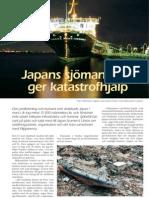 """""""Sjömän ger katastrofhjälp efter jordbävning i Japan"""", för Sjöbefäl"""