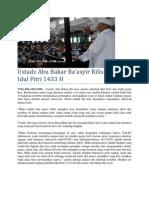 Ustadz Abu Bakar Ba'Asyir Rilis Khutbah Idul Fitri 1433 H