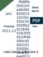 Balance Sheet 2012