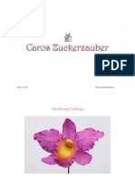Anleitung Cattleya Orchidee aus Zucker - selbst gemacht :-)