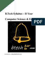 """B.tech MDU Syllabus (CSE) 2yr """"F"""" Scheme"""